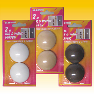 2 st wand t rstopper zum kleben kunststoff 40mm 3. Black Bedroom Furniture Sets. Home Design Ideas